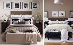 | Un banco a pie de cama para la decoración de dormitorios