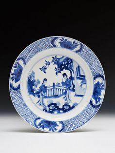 RP: Chinese porcelain plate, c. 1700, Kangxi reign, Qing dynasty