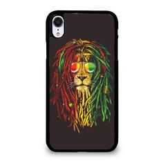 Brinkley Color Rasta Lion Square Blanket 2 iphone case