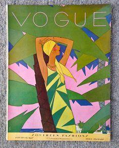 1927 VOGUE Fashion Magazine Art Deco BENITO cover art