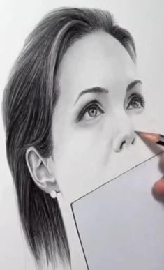 Realistic Drawing Secrets: Easy Techniques for drawing people, animals, flowers and nature Realistic Pencil Drawings, Art Drawings Sketches Simple, Pencil Art Drawings, 3d Art Drawing, Painting & Drawing, Pencil Portrait, Portrait Art, Art Drawings Beautiful, Drawing People