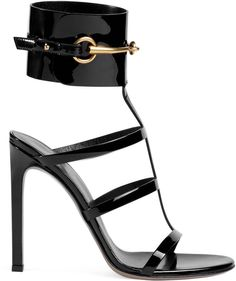 Ankle-strap patent leather sandal