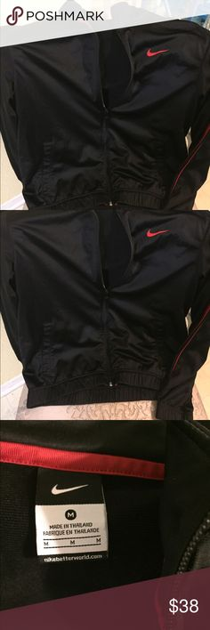 NWOT'S Nike zip jacket Excellent condition, black with red stripe down arms Nike Jackets & Coats Performance Jackets