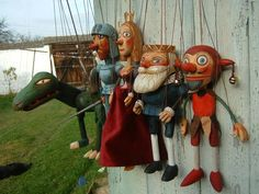 Collection  5 marionettes puppets   http://www.marionettes-puppets.com/Collection-5-marionettes-puppets-ru28.html