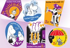 2011 Moomin booklet of six stamps