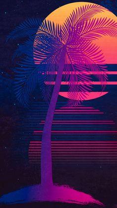Pin by emrah serdaroğlu on iphone wallpapers in 2019 iphone, resimler, resi Neon Wallpaper, Screen Wallpaper, Wallpaper Backgrounds, Mobile Wallpaper, Art Vaporwave, Iphone Wallpapers, Vaporwave Wallpaper, Retro Waves, Flamingo Party