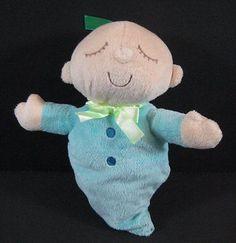 "9"" Baby Boy Lovey Soft Plush Ribbon Hair Sleeping Eyes Closed Stuffed Toy B259"