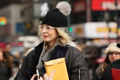 The Best Accessories Of NYFW #refinery29 Accessorize Zig Zag Beanie Hat, $29, available at Accessorize.