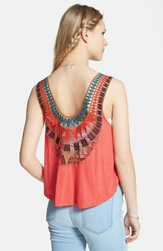 Lush Embroidered Back Tank (Juniors) available at #Nordstrom