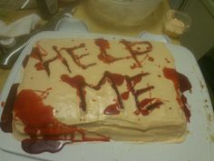 Halloween 2013 cake by Heather Arbiter. Apple cake with honey blood. Halloween 2013, Apple Cake, Blood, Honey, Cakes, Desserts, Tailgate Desserts, Deserts, Cake Makers