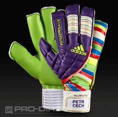 View and buy the adidas Fingersave Allround Petr Cech - Purple/Red adidas at Pro:Direct SOCCER. Goalie Gloves, Goalkeeper, Petra, Soccer, Football, Adidas, Purple, Sports, Red