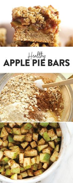 Apple Pie Bars (gluten-free & healthy) - Fit Foodie Finds Apple Pie Oatmeal, Strawberry Oatmeal Bars, Apple Pie Bars, Green Apple Recipes, Apple Pie Recipes, Paleo Apple Pie, Healthy Apple Pies, Apple Recipe Healthy, Apple Recipes Gluten Free