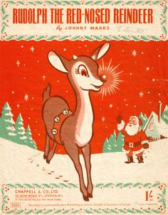 Vintage Rudolph Sheet music from the UK