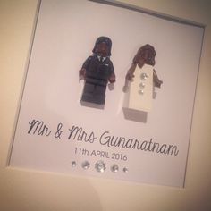 A personal favourite from my Etsy shop https://www.etsy.com/uk/listing/279772368/lego-bride-and-groom-personalised