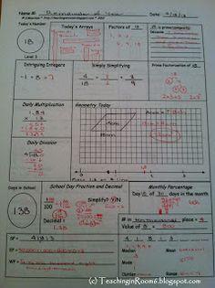 Calendar Math: Student Responses - Teaching in Room 6 Sixth Grade Math, Teaching 5th Grade, Teaching Math, Teaching Ideas, Teaching Tools, Interactive Student Notebooks, Math Notebooks, Fun Math, Math Activities
