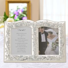Opal Innocence Double Invitation Frame by Lenox now in stock and ready to personalize!
