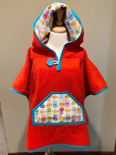 Towel Pal--hooded bath towel, size 4T. Bright colors combined with comfortable convenience. Hooded Bath Towels, Bright Colors, Hoods, Sweaters, How To Wear, Design, Fashion, Bright Colours, Cowls