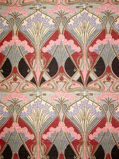 Ianthe Liberty of London vintage sample by retro age vintage fabrics, art deco print Motifs Art Nouveau, Motif Art Deco, Art Deco Pattern, Art Nouveau Design, Art Design, Pattern Fabric, Paisley Pattern, Art Deco Print, Graphic Design