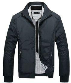 Casual Autumn Fashion Zipper-Front Slim Men's Jacket M-3XL 3 Colors