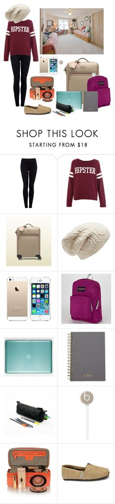 """Moving into College"" by elise-22 ❤ liked on Polyvore featuring Helmut by Helmut Lang, Pull&Bear, Gucci, Forever New, JanSport, Speck, Mulberry, Beats by Dr. Dre, Anya Hindmarch and TOMS"