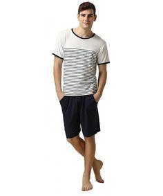 Men's Sleep & Lounge Summer Sexy V-neck 100% Cotton Pajama Sets Mens Cosy Short-sleeve Shorts T-shirts Male Homewear Korean Mens Short Sleep Indoor