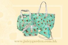 ***Mint Flavor Ice Cream Collection*** 4 bags shapes for different occasions! http://www.zalora.com.hk/juicy-garden/ For more info, please contact whatsapp +852 5545 5205 email info@juicygarden.com.hk
