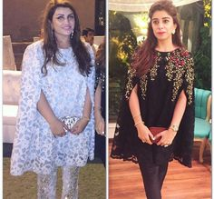 Hair on the right one looks better Pakistani Cape Dresses, Pakistani Outfits, Indian Dresses, Indian Outfits, Dulhan Dress, Indie Mode, Party Kleidung, Desi Clothes, Mode Hijab