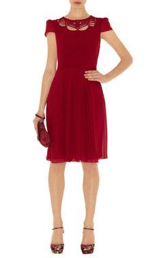 Sale Dresses | Red Fluid pleat dress | KarenMillen Stores Limited 115pounds on. Sale