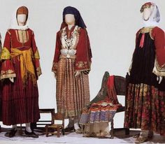 traditional costumes of the greek islands  sporades