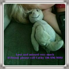 """Lost on 02 Oct. 2015 @ brampton, ontario. My four year old lost her lovey """"Rabbit"""". Think he fell out of car near her school or our house Visit: https://whiteboomerang.com/lostteddy/msg/61bcdh (Posted by Catherine on 07 Oct. 2015)"""