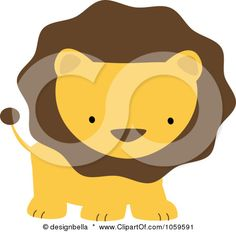 Royalty-Free Vector Clip Art Illustration of a Cute Lion by designbella