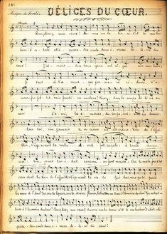 Partition musicale 1900 vintage                                                                                                                                                                                 Plus