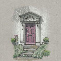England Countryside, Polychromos, Urban Sketchers, Copic, Sims, Contrast, Sketches, Doors, Facebook