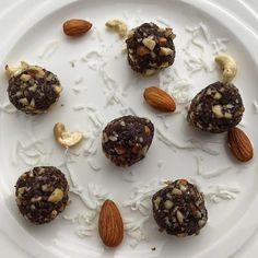 and a little sweet treat! Who doesn't love sweet treats that taste amazing, but are guilt free! All the recipes. Bliss Balls, Guilt Free, Healthy Treats, Meal Planning, Almond, Sweet Treats, Meals, Recipes, Food