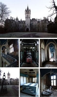 Chateau de Noisy, Belgium: Originally named Chateau Miranda, this abandoned mansion was reportedly designed in 1866 by an English architect and resembles the setting of a gothic horror film. Once the grand residence of an affluent family, Chateau de Noisy was allegedly occupied by the Nazis during World War Two before becoming an orphanage. The castle has been abandoned since 1991 with little apparent will to restore it.