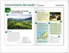 """Unidad 4 de Ciencias Sociales de 6º de Primaria: """"El relieve de Europa"""""""