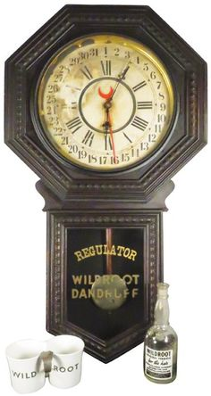Lot:Wildroot Dandruff Regulator Clock, Lot Number:904, Starting Bid:$100, Auctioneer:Showtime Auction Services, Auction:Wildroot Dandruff Regulator Clock, Date:04:00 AM PT - Oct 3rd, 2015