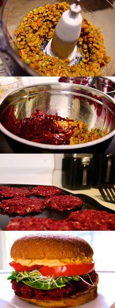 Beet/Lentil Burger #beets