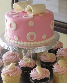 Ideas for baby shower cakes or cupcakes photo - 5 Baby Shower Cupcakes For Girls, Baby Shower Cupcake Toppers, Baby Shower Cakes Pictures, Fondant, Cupcake Pictures, Simple Baby Shower, Healthy Recipes, Healthy Meals, Easy Recipes