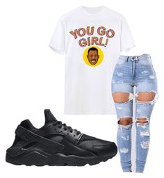 """~you go girl~"" by qveenmm on Polyvore featuring NIKE"