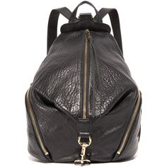 Rebecca Minkoff Julian Backpack ($300) ❤ liked on Polyvore featuring bags, backpacks, black, rebecca minkoff, leather bags, pocket backpack, real leather backpack and genuine leather backpack
