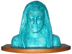 Atlantis. Solid ceramic in mohagany wood base by Harmony Jones