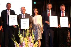 Crown Princess Mary attended the award ceremony of the CSR Priser for social responsible entrepreneurship at the Exchange building in Copenhagen, Denmark on September 07, 2015.