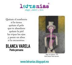"""""""Striptease"""" de la poeta peruana Blanca Varela. Imagen de Rufino Tamayo."""