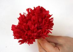 Kvety zo servitiek a krepového papiera 22