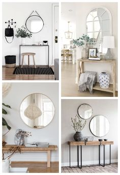 Decorative tips: how to decorate a small entrance? Decor, Cheap Home Decor, Interior, French Home Decor, Living Decor, Home Entrance Decor, Home Decor, House Interior, Home Deco
