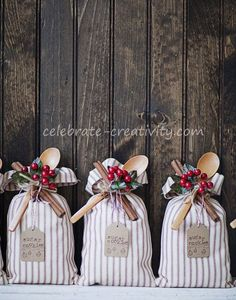 handcrafted cookie mix sacks are super pretty on the outside and contain sugar cookie mix on the inside.