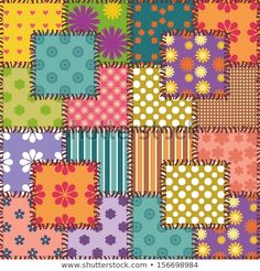 patchwork background with different patterns Más Patchwork Patterns, Fabric Patterns, Print Patterns, Background Vintage, Background Patterns, Wallpaper Backgrounds, Iphone Wallpaper, Wallpapers, Quilting