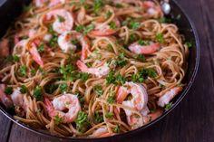 Make and share this Shrimp Scampi With Linguini recipe from Genius Kitchen. Best Shrimp Recipes, Cajun Recipes, Seafood Recipes, Pasta Recipes, Cooking Recipes, Fish Recipes, Recipes Dinner, Healthy Cooking, Recipes