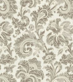 Home Decor Print Fabric- Swavelle Millcreek Boxtree Lynwood Pearl